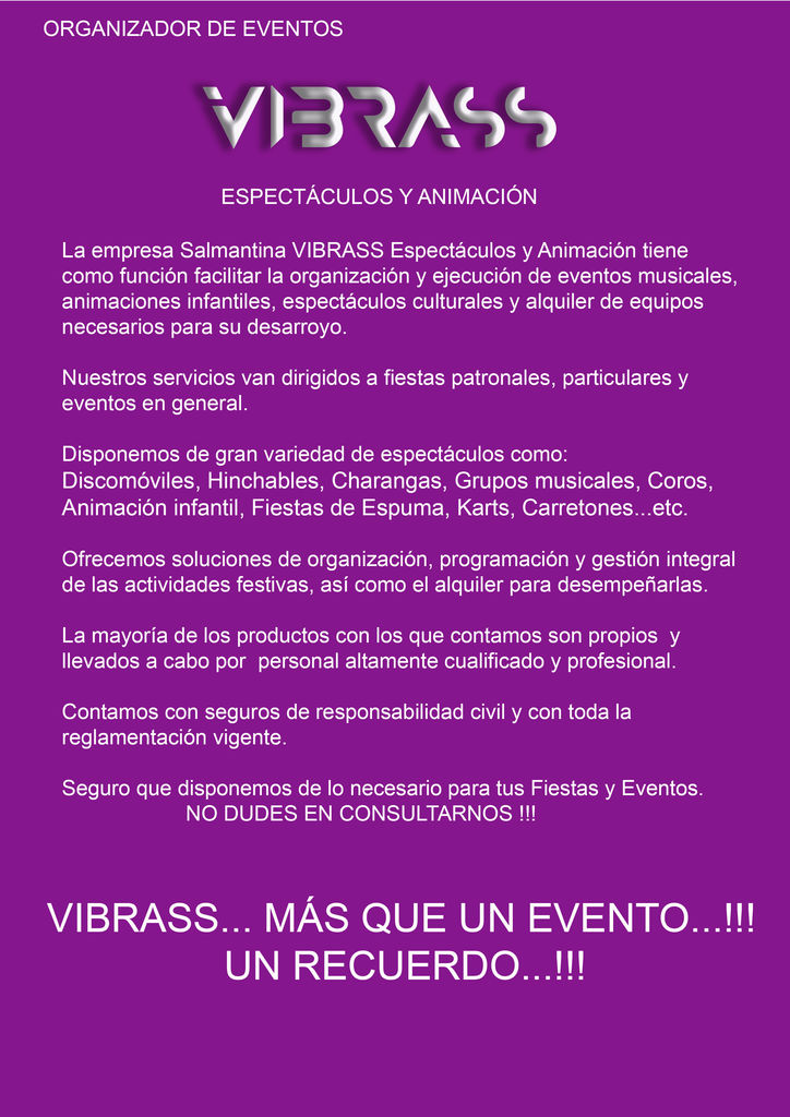 vibrass espectÁculos y animac 1