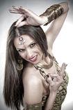 Bailarina profesional de danza oriental y flamenco foto 1