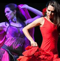 Bailarina profesional de danza oriental y flamenco