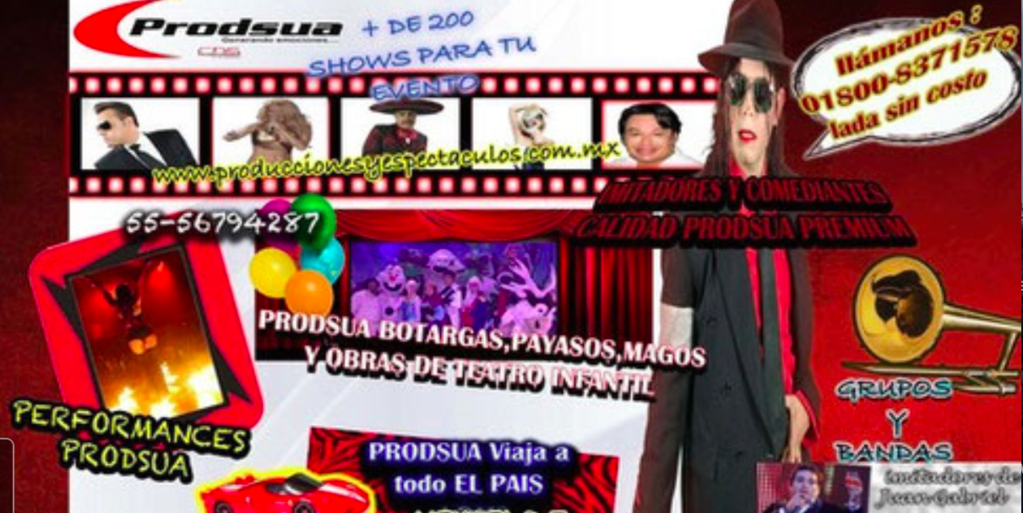 grandes shows para sus eventos 0
