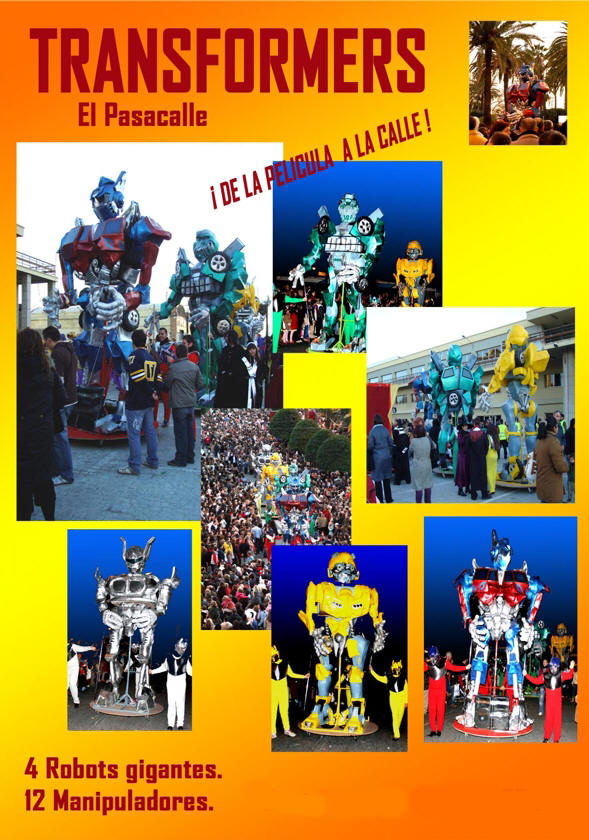pasacalle transformers 1