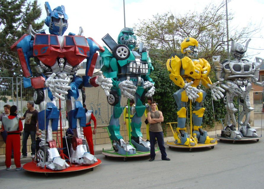 pasacalle transformers 0