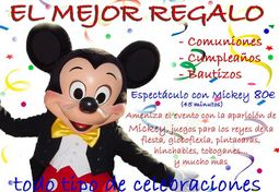 Personajes Mickey y Minnie